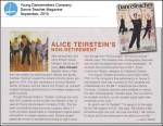 Alice Teirstein's Non-Retirement